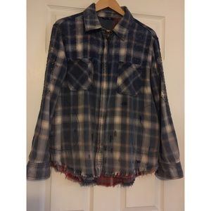 Free People Flannel Shirt Jacket